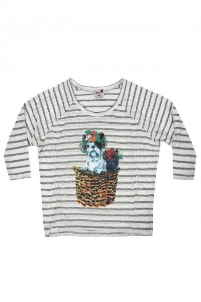 Camiseta DOLORES PROMESAS Rayas Tula y Trini