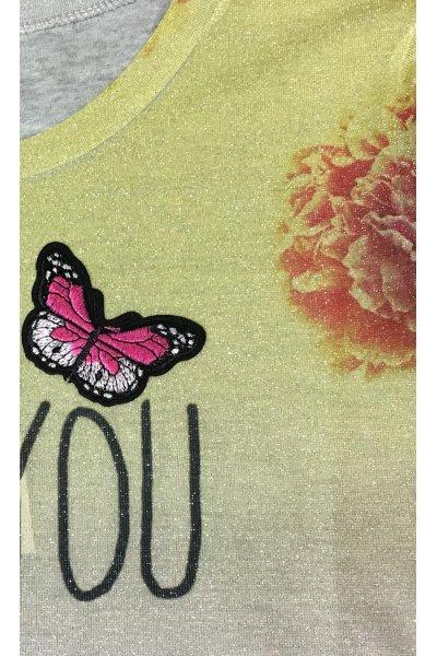 Camiseta YHOCOS Flores y Bordados
