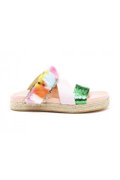 Sandalia SERAFINI Elisabeth Fur Multicolor Glitter