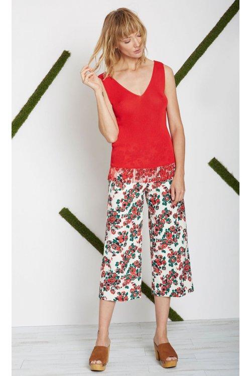 Pantalón ALBA CONDE Estampado Rosas