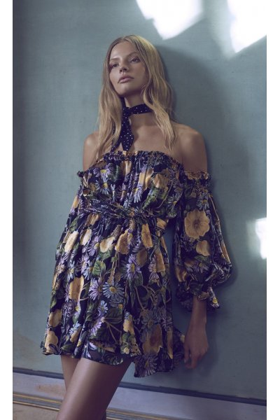 Vestido FOR LOVE AND LEMONS Negro Floral