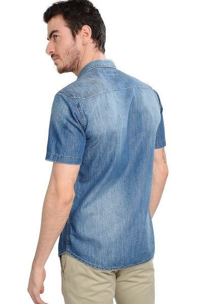 Camisa REPLAY Denim Manga Corta