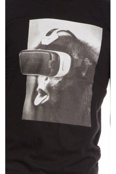 Camiseta REPLAY Negra Mono