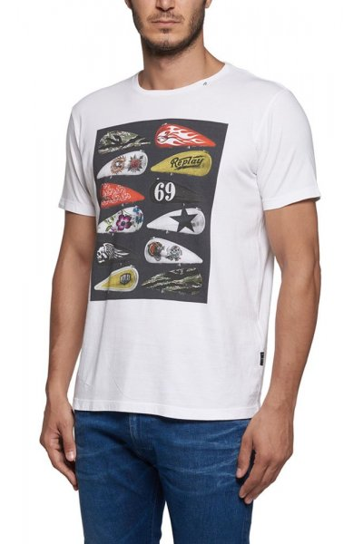 Camiseta REPLAY Estampado Colores