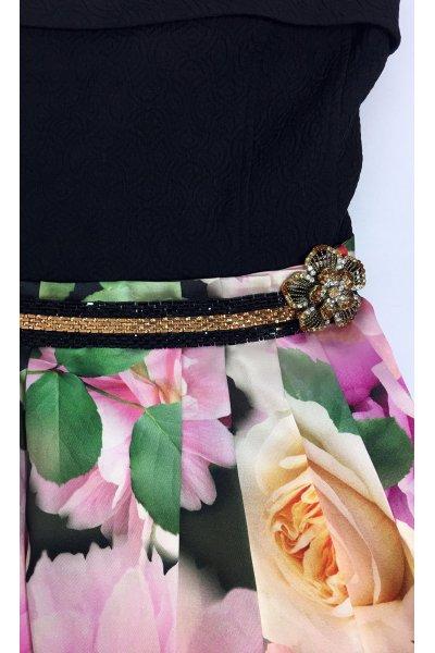 Vestido CONCEPTO PRIVEE Asimétrico Big Flowers