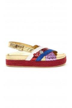 Sandalia SERAFINI Tricolor Glitter