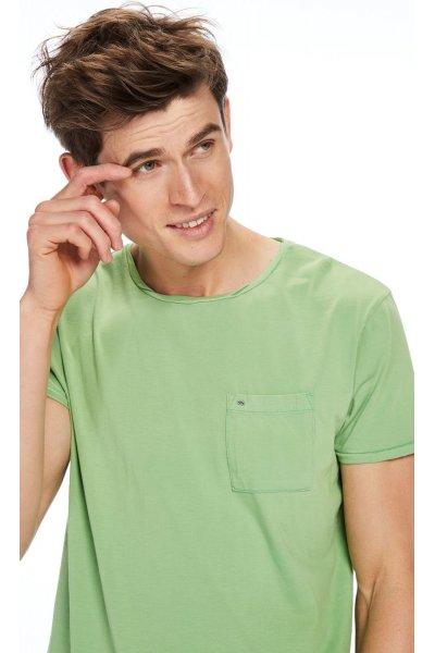 Camiseta SCOTCH & SODA Bolsillo Verde Lima