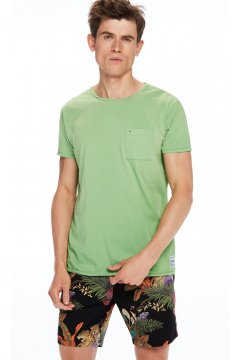 Camiseta SCOTCH & SODA Bolsillo Verde Lima
