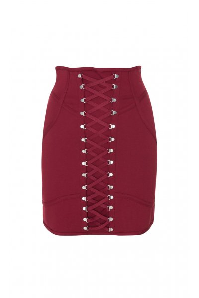 Falda HIGHLY PREPPY Corset Granate