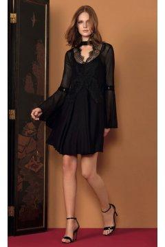 Vestido LEZ A LEZ Negro Encaje
