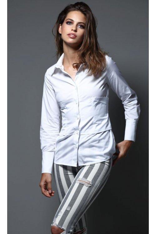 Camisa IMILOA Corset Blanca