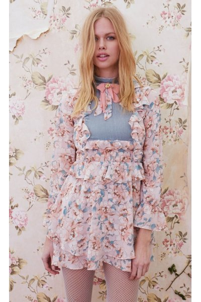 Vestido FOR LOVE AND LEMONS Combi Print Floral