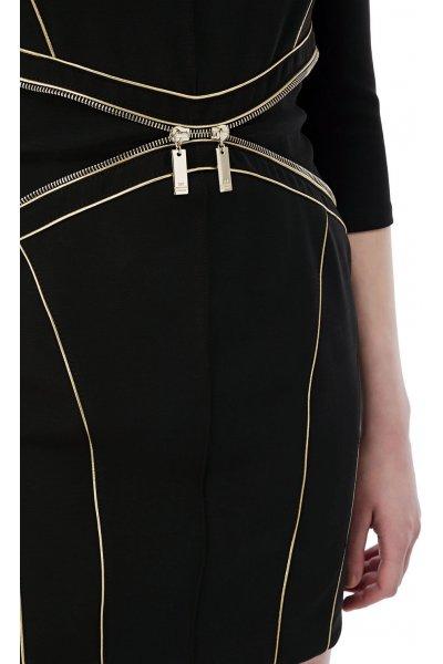 Vestido ELISABETTA FRANCHI Tubo Cordón Oro