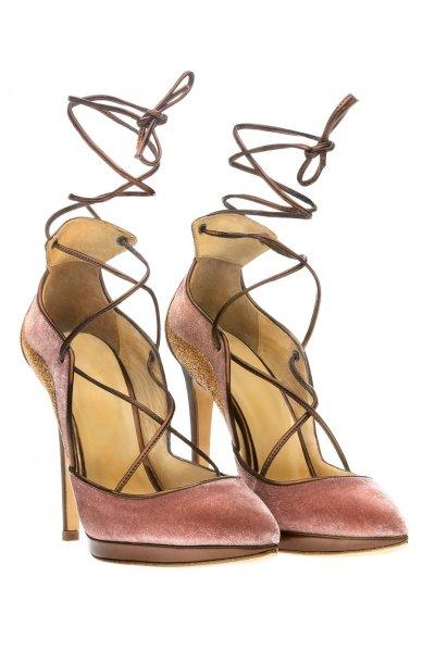 Zapato ALTEZZA Combinado Terciopelo