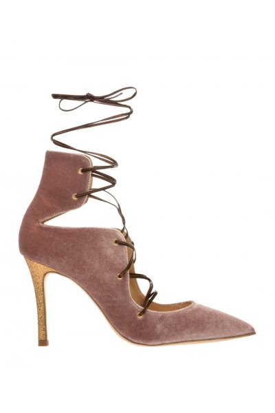Zapato ALTEZZA Terciopelo Rosa