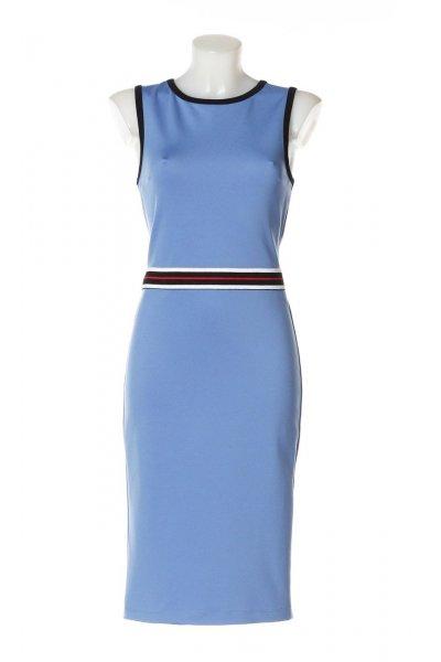 Vestido DENNY ROSE Lápiz Cintura Tricolor