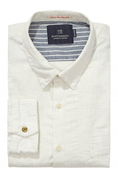Camisa SCOTCH & SODA Crudo Algodón Cepillado