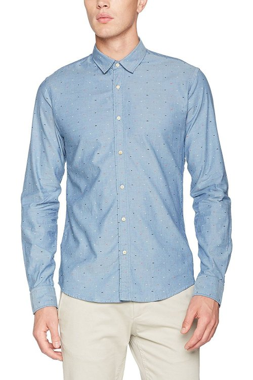 Camisa SCOTCH & SODA Oxford Micro Dibujo
