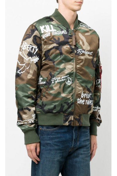 Bomber ALPHA INDUSTRIES MA-1 VF Freedom Camuflaje