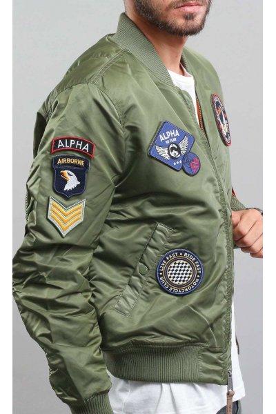 Bomber ALPHA INDUSTRIES MA-1 VF DIY Verde