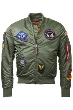 Bomber ALPHA INDUSTRIES MA-1 VF DIY Verde