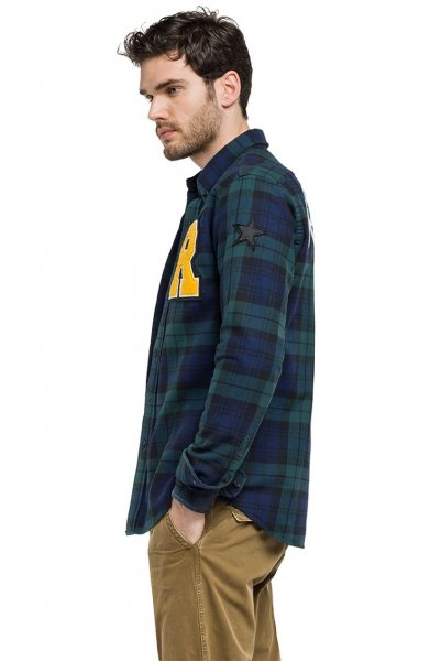 Camisa REPLAY Cuadros Tartan