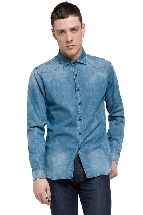 Camisa REPLAY Denim Desteñido