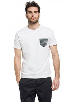 Camiseta REPLAY Bolsillo Estampado