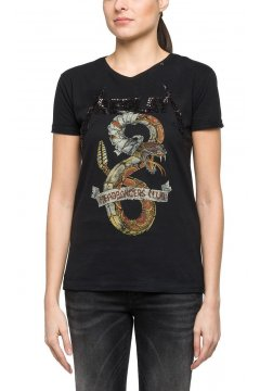 Camiseta REPLAY Serpiente Paillettes