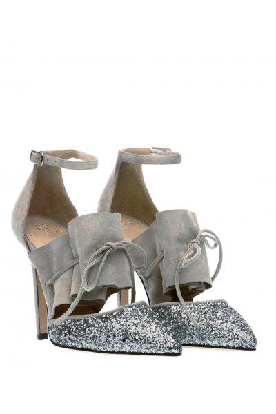 Zapato ALTEZZA Gris Volante Punta Glitter