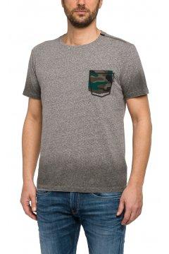 Camiseta REPLAY Bolsillo Estampado Y Cremallera