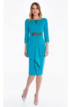 Vestido de madrina azul turquesa