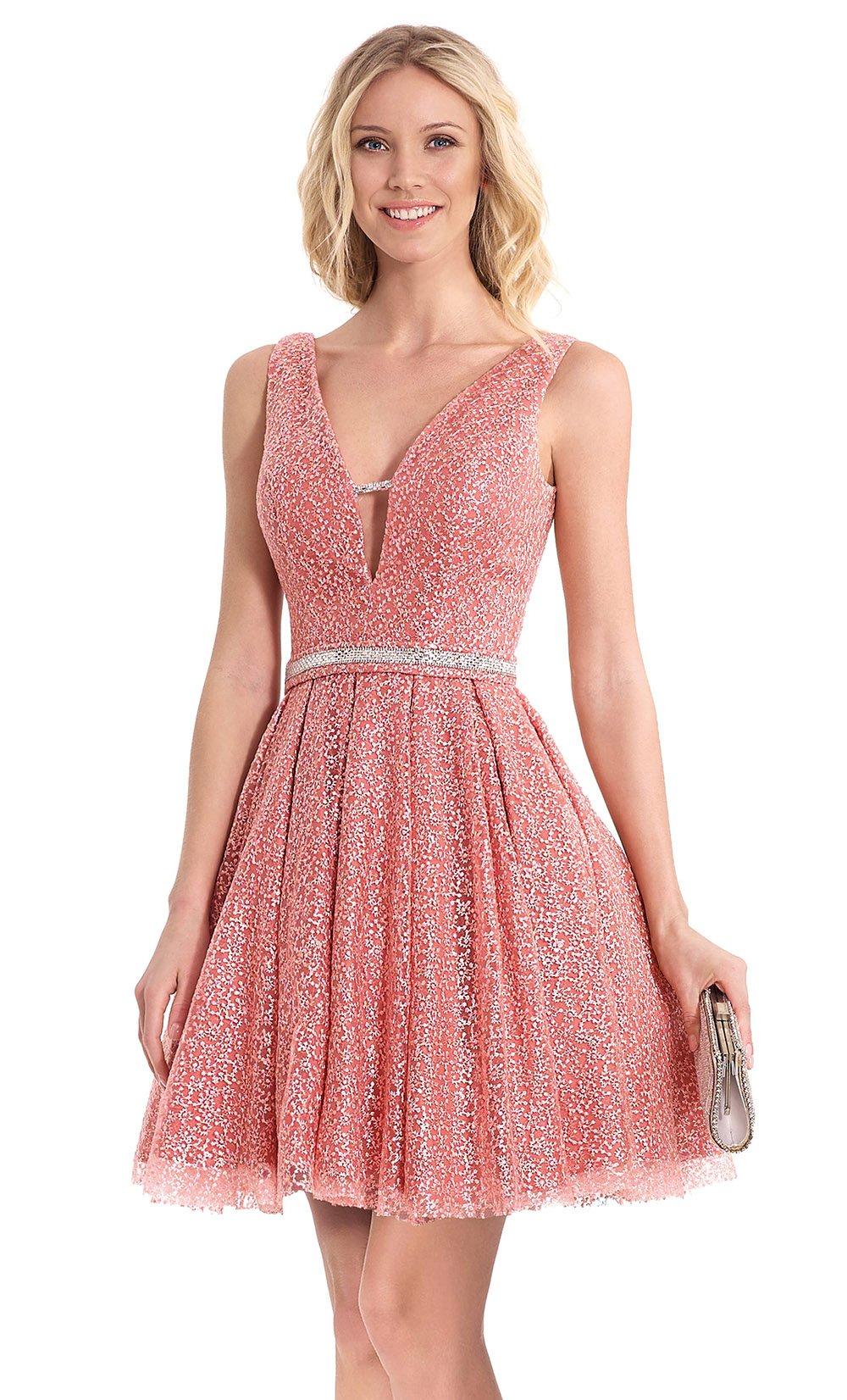 Dorable Vestidos De Fiesta Cortos Rosa Bajo 100 Modelo - Ideas de ...