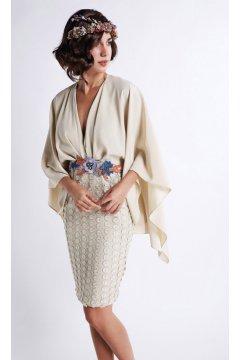 Kimono MATILDE CANO Falda Guipur