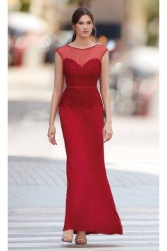 Vestido CARLA RUIZ Largo Rojo