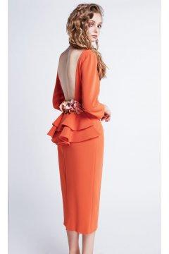 Vestido MASS MATILDE CANO Naranja Escote Espalda