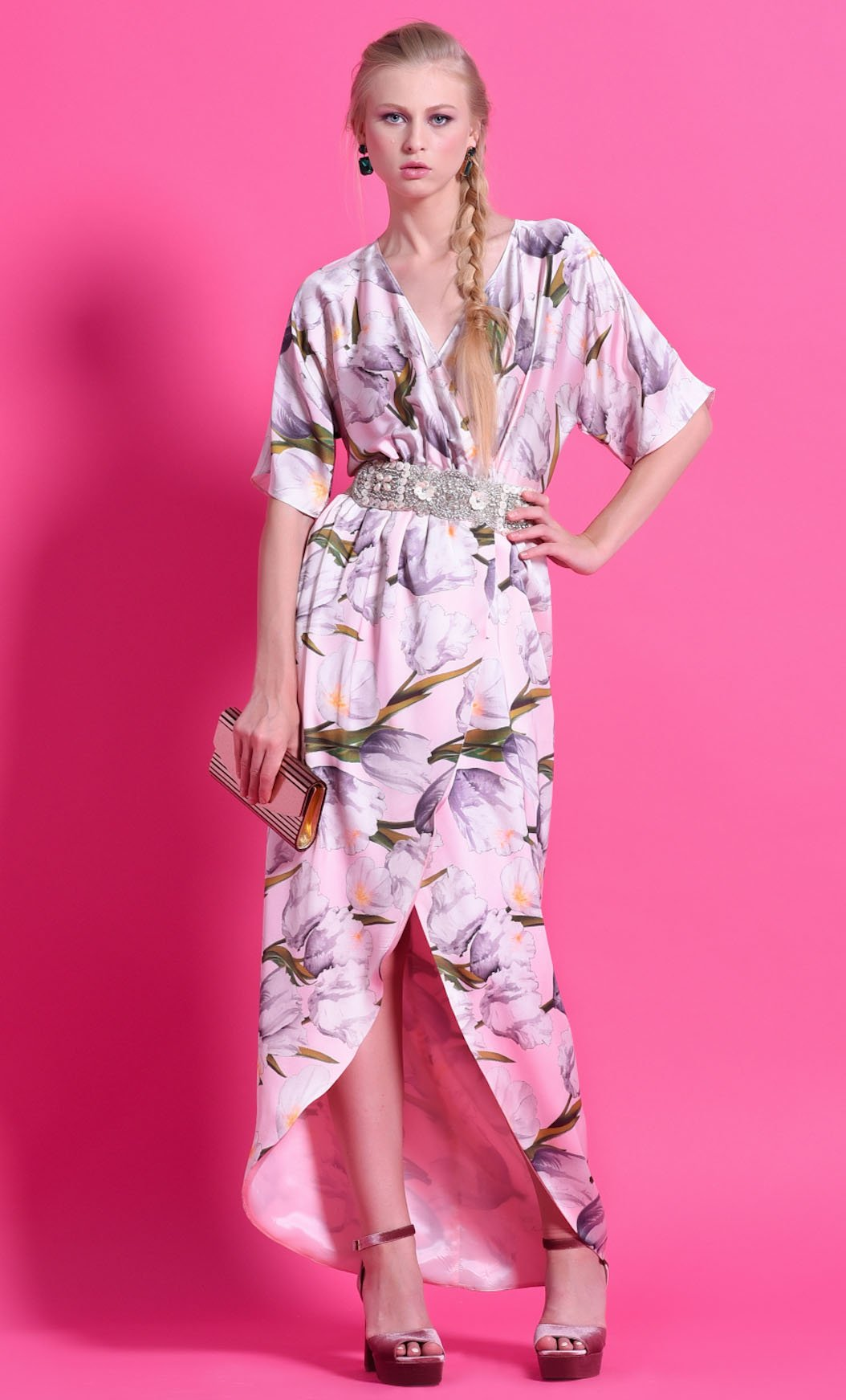 Vestido NB STYLE NURIBEL Estampado Floral Suave
