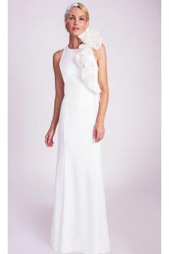 Vestido ALBA CONDE Fiesta Blanco Flores