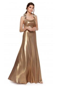 Vestido CARLA RUIZ Lencero Oro