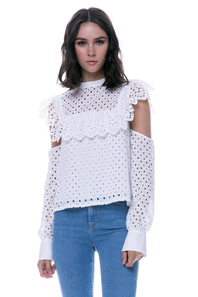 Camisa ENDLESS ROSE Perforados Off Shoulder