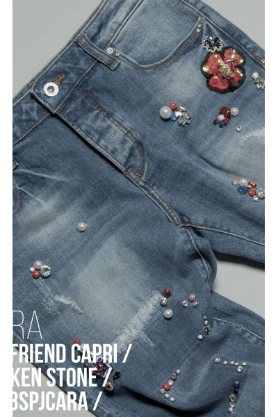 Jeans FRACOMINA Strass Flor