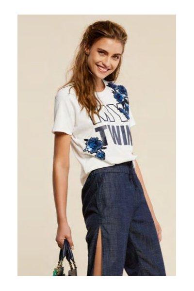 Camiseta TWIN-SET Aplicación Joya