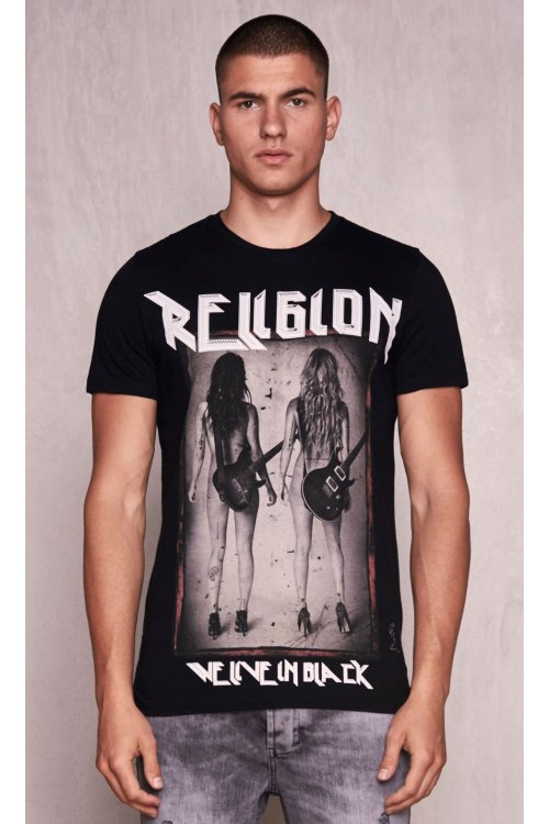 Camiseta RELIGION Rock Star Negra