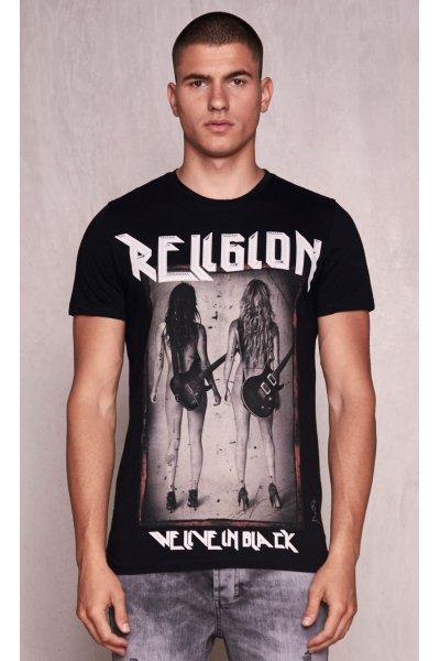 Camiseta RELIGION Rock Star Negra