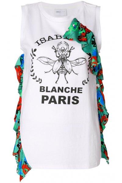 Camiseta ISABELLE BLANCHE Volante