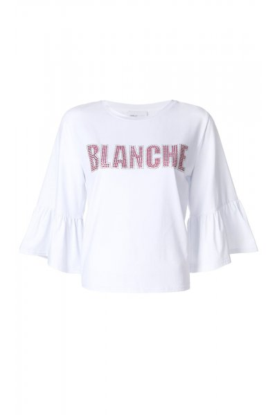 Camiseta ISABELLE BLANCHE Strass