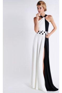 Vestido MATILDE CANO Combinado Bicolor B/N