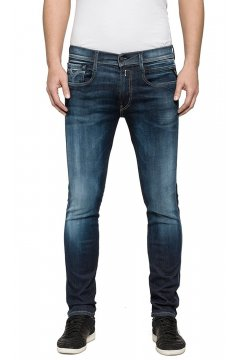 Pantalón REPLAY Slim Hypreflex Anbass Blue Black Edition