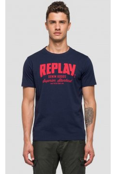 Camiseta REPLAY Marino Logo
