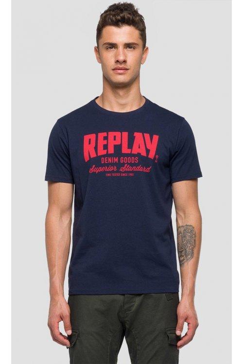 Camiseta REPLAY Marino Logo
